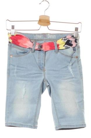 Dětské krátké kalhoty  S.Oliver, Velikost 12-13y/ 158-164 cm, Barva Modrá, 78% bavlna, 20% polyester, 2% elastan, Cena  300,00Kč