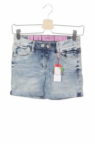Детски къс панталон S.Oliver, Размер 14-15y/ 168-170 см, Цвят Син, 66% памук, 29% полиестер, 3% вискоза, 2% еластан, Цена 23,52лв.