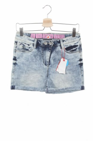 Детски къс панталон S.Oliver, Размер 12-13y/ 158-164 см, Цвят Син, 68% памук, 29% полиестер, 3% вискоза, Цена 3,00лв.