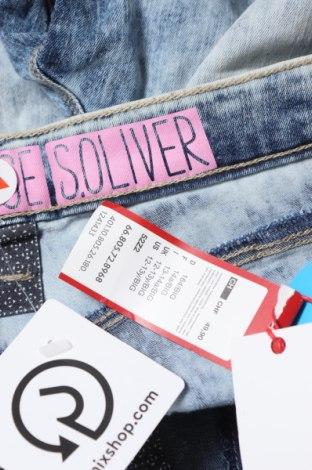 Детски къс панталон S.Oliver, Размер 12-13y/ 158-164 см, Цвят Син, 68% памук, 29% полиестер, 3% вискоза, Цена 23,52лв.