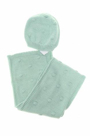 Детски комплект Little Celebs, Цвят Зелен, Акрил, Цена 20,70лв.