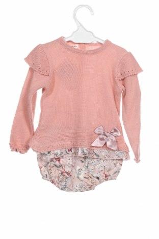 Dětský komplet  Lola Palacios, Velikost 9-12m/ 74-80 cm, Barva Růžová, Akryl , bavlna, Cena  631,00Kč
