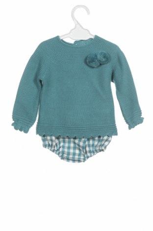 Детски комплект Lola Palacios, Размер 12-18m/ 80-86 см, Цвят Зелен, Акрил, памук, Цена 16,00лв.