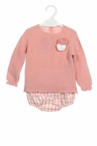 Dětský komplet  Lola Palacios, Velikost 9-12m/ 74-80 cm, Barva Růžová, Akryl , bavlna, Cena  696,00Kč