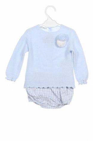 Dětský komplet  Lola Palacios, Velikost 9-12m/ 74-80 cm, Barva Modrá, Akryl , bavlna, Cena  306,00Kč
