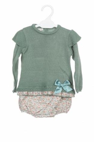 Dětský komplet  Lola Palacios, Velikost 9-12m/ 74-80 cm, Barva Zelená, Akryl , bavlna, Cena  306,00Kč