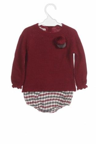 Dětský komplet  Lola Palacios, Velikost 9-12m/ 74-80 cm, Barva Červená, Akryl , bavlna, Cena  696,00Kč