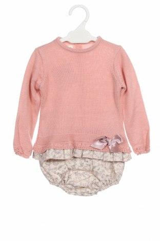 Dětský komplet  Lola Palacios, Velikost 9-12m/ 74-80 cm, Barva Růžová, Akryl , bavlna, Cena  306,00Kč