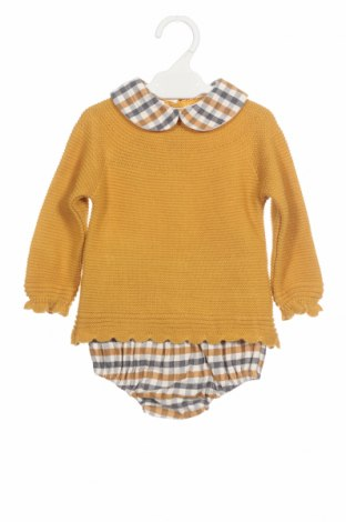 Dětský komplet  Lola Palacios, Velikost 9-12m/ 74-80 cm, Barva Žlutá, Akryl , bavlna, Cena  306,00Kč