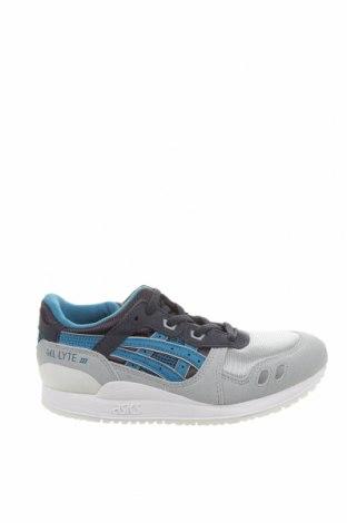 Детски обувки ASICS, Размер 33, Цвят Сив, Текстил, еко кожа, Цена 32,25лв.