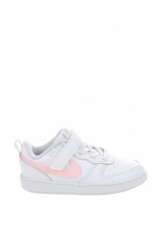 Детски обувки Nike, Размер 27, Цвят Бял, Естествена кожа, полиуретан, Цена 53,55лв.
