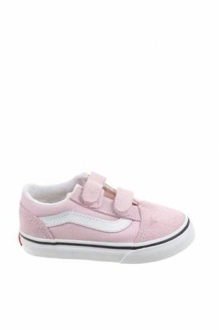 Детски обувки Vans, Размер 24, Цвят Розов, Естествен велур, текстил, Цена 32,25лв.