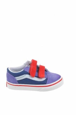 Детски обувки Vans, Размер 23, Цвят Син, Естествен велур, текстил, Цена 32,25лв.