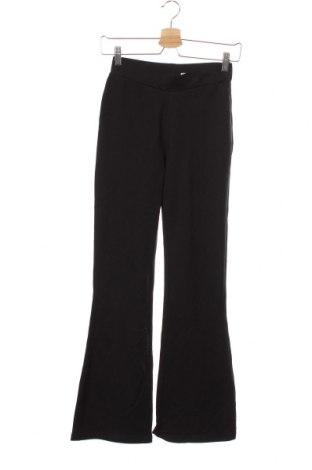 Pantaloni pentru copii Design By Kappahl, Mărime 13-14y/ 164-168 cm, Culoare Negru, 95% bumbac, 5% elastan, Preț 31,41 Lei