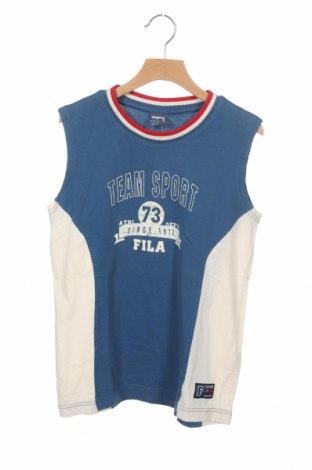 Μπλουζάκι αμάνικο παιδικό Fila, Μέγεθος 11-12y/ 152-158 εκ., Χρώμα Μπλέ, Βαμβάκι, Τιμή 4,21€