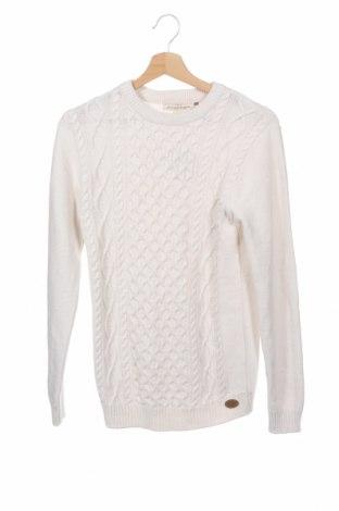 Детски пуловер H&M L.O.G.G., Размер 12-13y/ 158-164 см, Цвят Бял, 60% памук, 30% полиамид, 10% вълна, Цена 6,83лв.