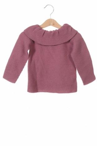 Детски пуловер Lola Palacios, Размер 18-24m/ 86-98 см, Цвят Пепел от рози, Цена 14,75лв.