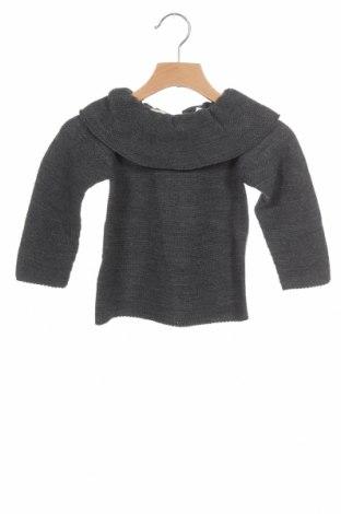 Детски пуловер Lola Palacios, Размер 18-24m/ 86-98 см, Цвят Сив, Цена 14,75лв.