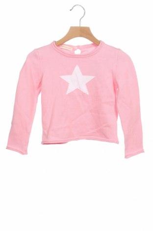 Детски пуловер Lola Palacios, Размер 18-24m/ 86-98 см, Цвят Розов, 100% памук, Цена 13,50лв.