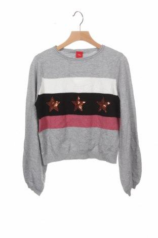 Детски пуловер S.Oliver, Размер 9-10y/ 140-146 см, Цвят Сив, 52% вискоза, 28% полиестер, 20% полиамид, Цена 15,60лв.