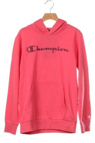 Hanorac pentru copii Champion, Mărime 11-12y/ 152-158 cm, Culoare Roz, 60% bumbac, 40% poliester, Preț 70,36 Lei