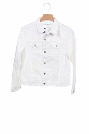 Детско дънково яке Dondup, Размер 4-5y/ 110-116 см, Цвят Бял, 98% памук, 2% еластан, Цена 141,75лв.