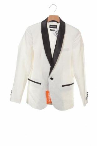 Детско сако Oppo Suits, Размер 11-12y/ 152-158 см, Цвят Бял, Полиестер, Цена 44,25лв.