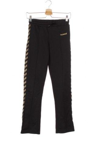 Pantaloni de trening, pentru copii Hummel, Mărime 14-15y/ 168-170 cm, Culoare Negru, 50% bumbac, 50% poliester, Preț 24,37 Lei