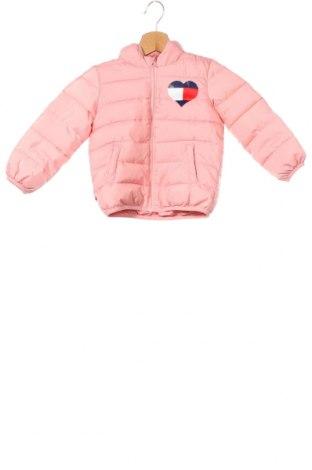 Dziecięca kurtka Tommy Hilfiger, Rozmiar 18-24m/ 86-98 cm, Kolor Różowy, Poliester, Cena 277,20zł