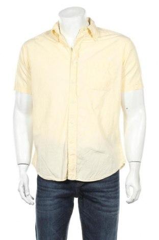 Мъжка риза Cortefiel, Размер L, Цвят Жълт, Памук, Цена 9,45лв.