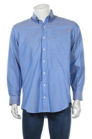 Мъжка риза Kirkland, Размер L, Цвят Син, Памук, Цена 19,95лв.