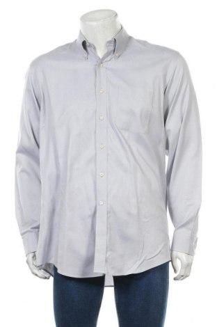 Мъжка риза Kirkland, Размер L, Цвят Сив, Памук, Цена 10,92лв.