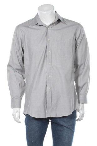 Мъжка риза Kirkland, Размер M, Цвят Сив, Памук, Цена 13,97лв.