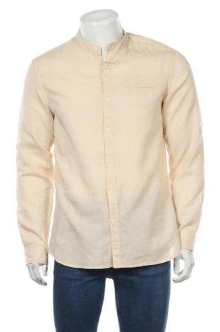 Мъжка риза Lft, Размер M, Цвят Бежов, 94% памук, 6% лен, Цена 19,11лв.