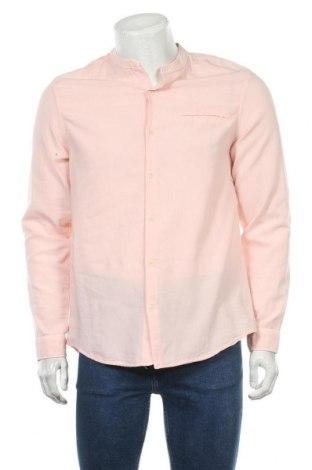 Мъжка риза Lft, Размер M, Цвят Розов, 94% памук, 6% лен, Цена 20,09лв.