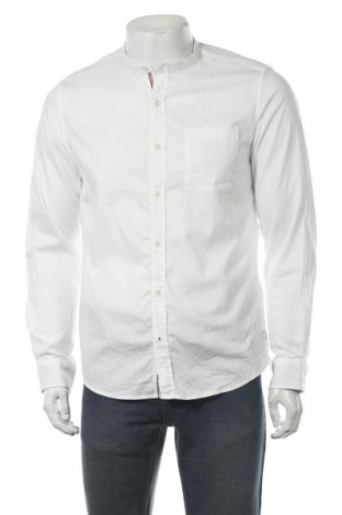 Ανδρικό πουκάμισο S.Oliver, Μέγεθος M, Χρώμα Λευκό, 98% βαμβάκι, 2% ελαστάνη, Τιμή 9,80€