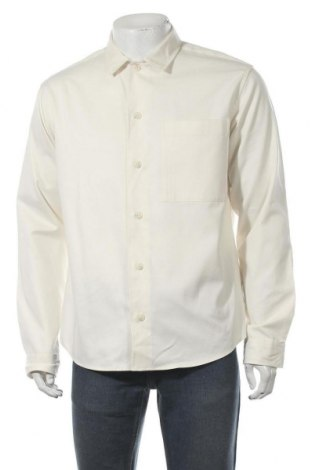 Ανδρικό πουκάμισο Selected Homme, Μέγεθος L, Χρώμα Εκρού, 70% βαμβάκι, 30% lyocell, Τιμή 10,97€