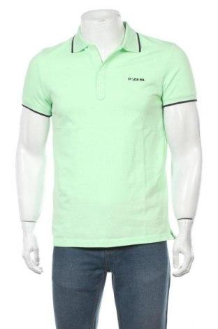 Мъжка тениска Diesel, Размер L, Цвят Зелен, Памук, Цена 66,60лв.