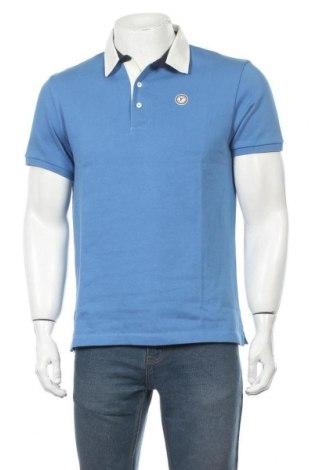 Мъжка тениска Faconnable, Размер M, Цвят Син, Памук, Цена 76,32лв.