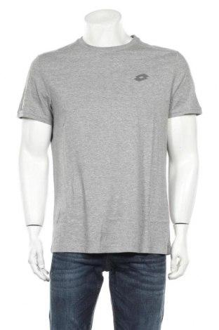 Мъжка тениска Lotto, Размер L, Цвят Сив, 80% памук, 20% вискоза, Цена 17,86лв.
