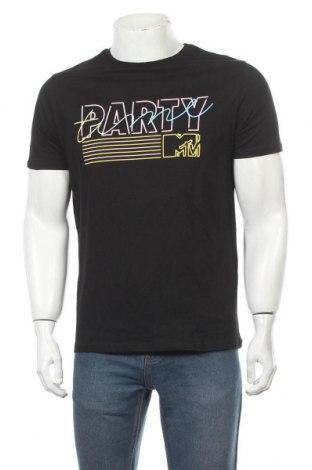 Мъжка тениска Mtv, Размер M, Цвят Черен, Памук, Цена 17,40лв.