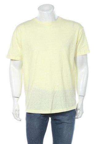 Мъжка тениска Tom Tailor, Размер M, Цвят Жълт, 46% памук, 50% полиестер, 4% вискоза, Цена 16,80лв.