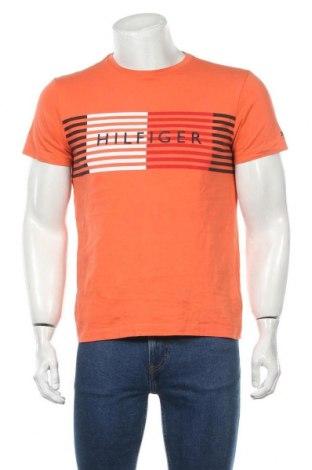 Tricou de bărbați Tommy Hilfiger, Mărime M, Culoare Portocaliu, Bumbac, Preț 146,05 Lei
