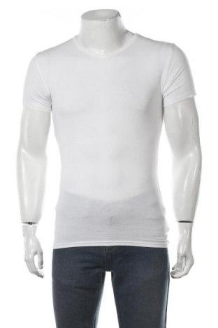 Tricou de bărbați Tommy Hilfiger, Mărime S, Culoare Alb, 95% bumbac, 5% elastan, Preț 122,11 Lei