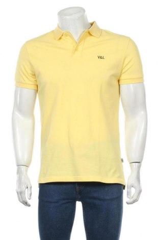 Мъжка тениска Victorio & Lucchino, Размер L, Цвят Жълт, Памук, Цена 23,79лв.