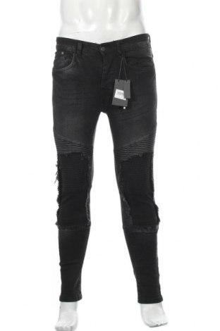 Мъжки дънки Brave Soul, Размер S, Цвят Черен, 98% памук, 2% еластан, Цена 28,98лв.