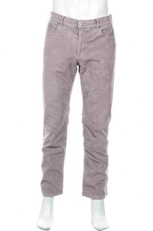 Pantaloni raiați de bărbați Brax, Mărime M, Culoare Gri, 99% bumbac, 1% elastan, Preț 29,66 Lei