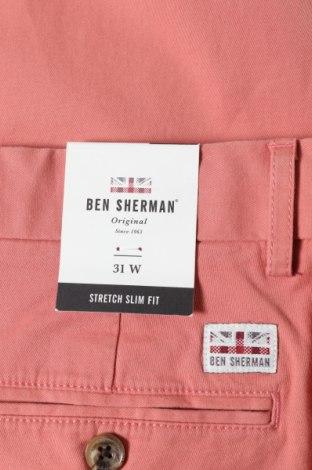 Мъжки къс панталон Ben Sherman, Размер M, Цвят Розов, 97% памук, 3% еластан, Цена 22,94лв.