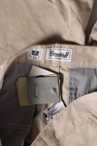 Мъжки къс панталон Bendorff, Размер M, Цвят Бежов, 98% памук, 2% еластан, Цена 31,85лв.