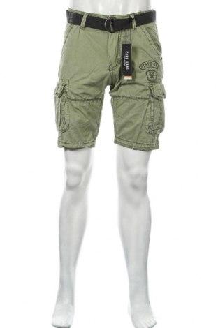 Мъжки къс панталон Cars Jeans, Размер S, Цвят Зелен, 100% памук, Цена 21,94лв.